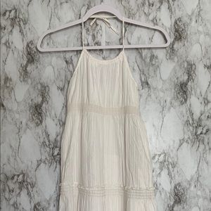 GAP HALTER DRESS WITH CROCHET TRIM